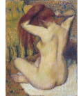 Edgar Degas - Donna che si pettina . Stampa su tela