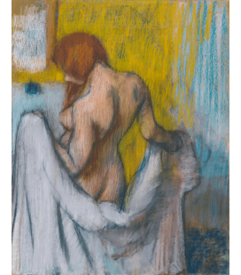 Edgar Degas - Woman with towel. Printing on canvas