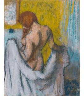 Edgar Degas - Donna con Asciugamano. Stampa su tela