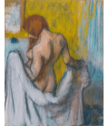 Stampa su tela: Edgar Degas - Donna con Asciugamano