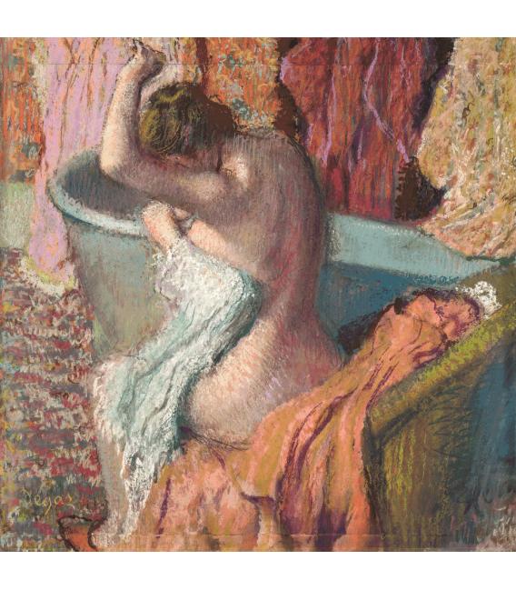 Stampa su tela: Edgar Degas - Dopo il Bagno