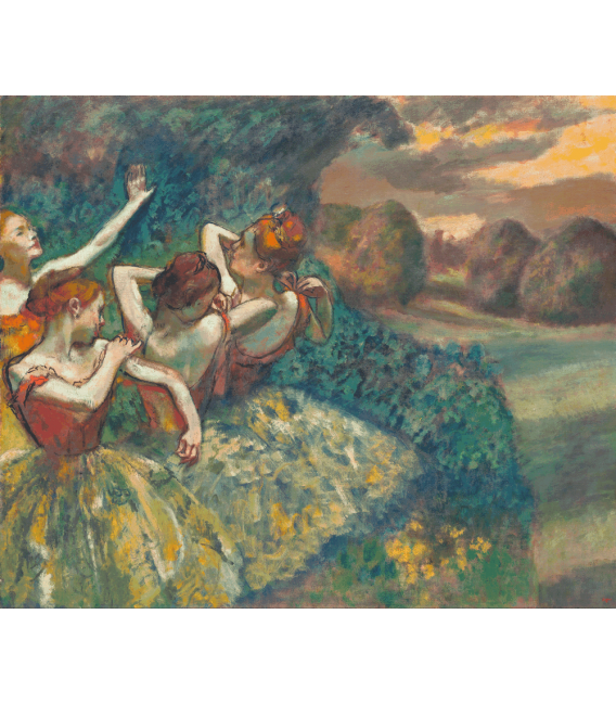 Printing on canvas: Edgar Degas - Four Dancers
