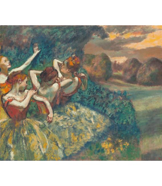 Stampa su tela: Edgar Degas - Four Dancers