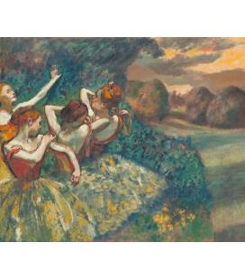 Edgar Degas - Quattro Ballerini. Stampa su tela
