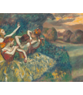 Edgar Degas - Four Dancers. Printing on canvas