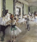 Stampa su tela: Edgar Degas - The Ballet Class