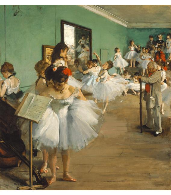 Printing on canvas: Edgar Degas - The Dance class