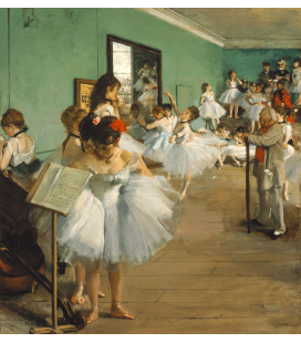 Printing on canvas: Edgar Degas - The Dance class