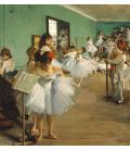 Edgar Degas - La Classe della Danza. Stampa su tela