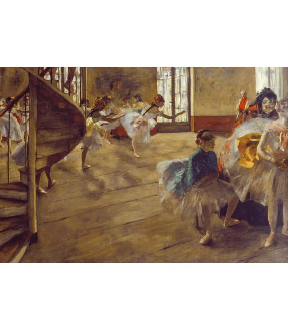 Printing on canvas: Edgar Degas - The Rehearsal