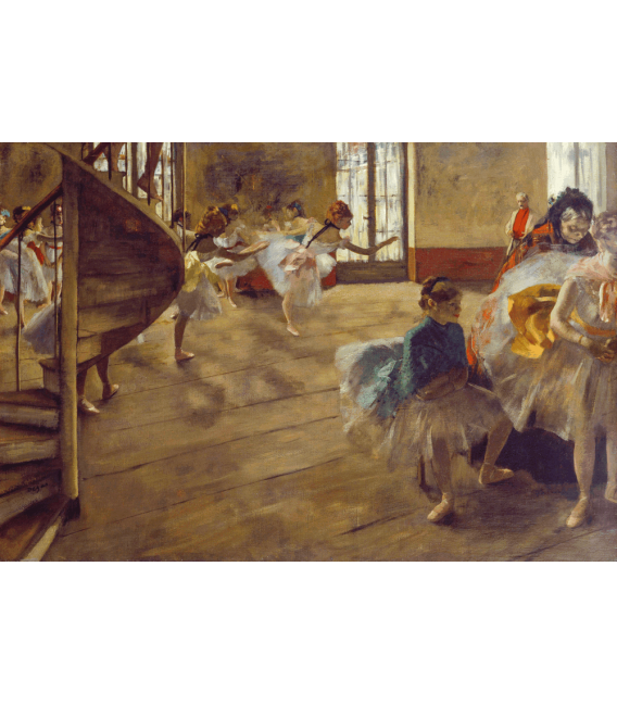 Stampa su tela: Edgar Degas - The Rehearsal