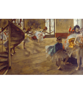 Printing on canvas: Edgar Degas - The Rehearsal