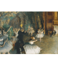 Edgar Degas - The Rehearsal of the Ballet Onstage. Printing on canvas