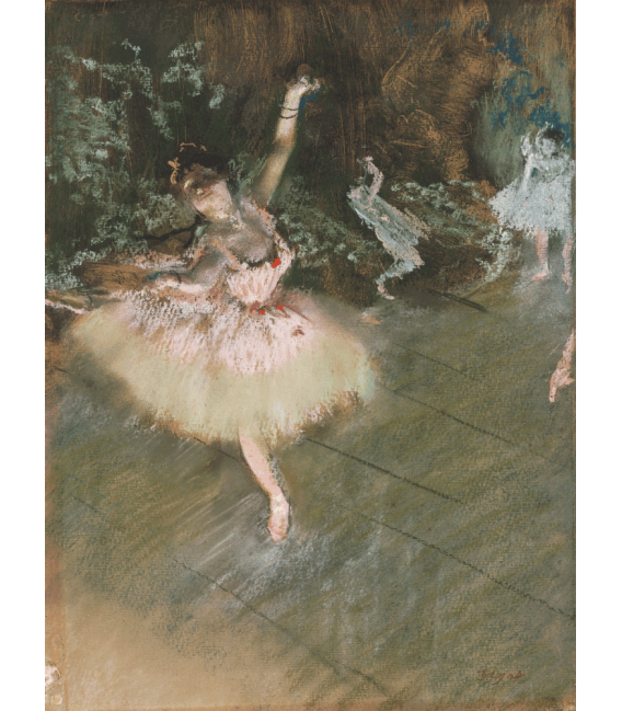 Printing on canvas: Edgar Degas - The Star