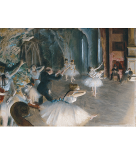 Edgar Degas - Two Rehearsals Onstage. Printing on canvas