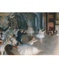 Edgar Degas - Due Prove Generali sul Palco. Stampa su tela