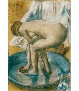 Stampa su tela: Edgar Degas - Woman Bathing in a Shallow Tub
