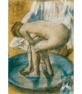 Edgar Degas - Woman Bathing in a Shallow Tub. Printing on canvas