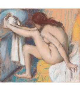 Printing on canvas: Edgar Degas - Woman Drying Her Foot