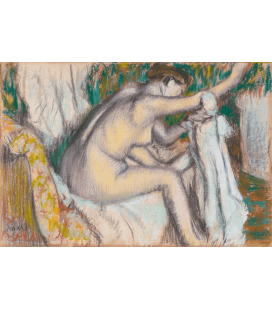 Printing on canvas: Edgar Degas - Woman Drying Her Arm