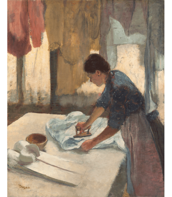 Printing on canvas: Edgar Degas - Woman Ironing