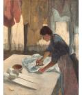 Stampa su tela: Edgar Degas - Woman Ironing