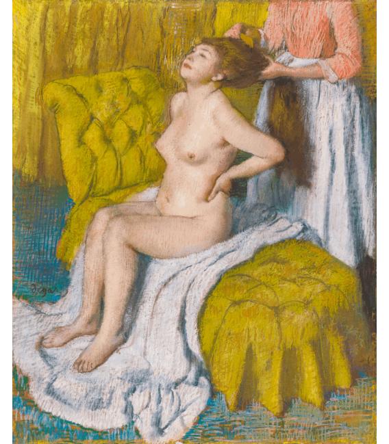 Stampa su tela: Edgar Degas - Woman Having Her Hair Combed