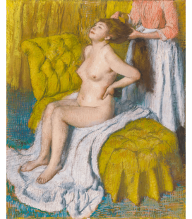 Stampa su tela: Edgar Degas - Woman Having Her Hair Combed