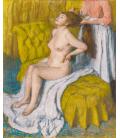 Edgar Degas - Donna a cui vengono pettinati i capelli. Stampa su tela