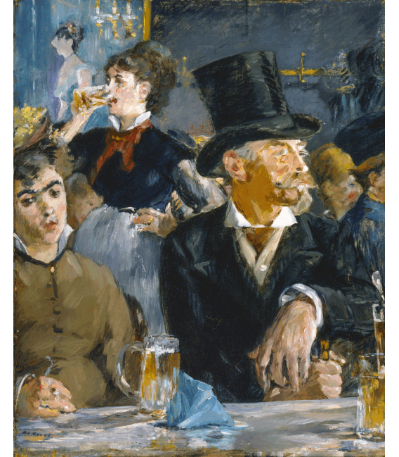 Printing on canvas: Edouard Manet - At the Café