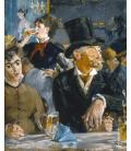 Stampa su tela: Edouard Manet - At the Café