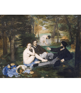 Edouard Manet - Luncheon on the Grass. Printing on canvas