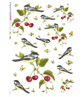 Decoupage rice paper: Birds and Cherries