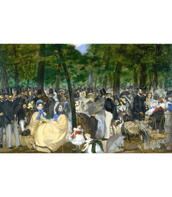 Printing on canvas: Edouard Manet - Música en las Tuileries