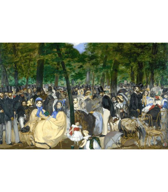 Stampa su tela: Edouard Manet - Música en las Tullerías