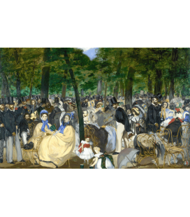 Edouard Manet - Música en las Tuileries. Printing on canvas
