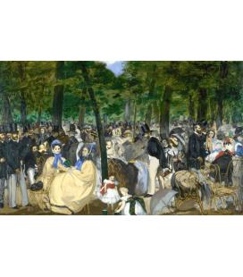 Edouard Manet - Musica nelle Tullerías. Stampa su tela