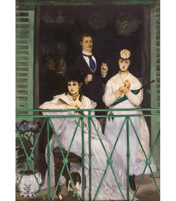 Stampa su tela: Edouard Manet - The Balcony