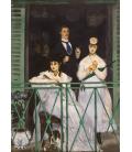 Edouard Manet - Il Balcone. Stampa su tela