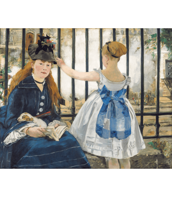 Printing on canvas: Edouard Manet - The Railway (1873)