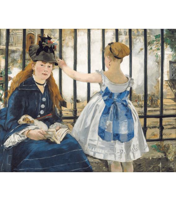 Stampa su tela: Edouard Manet - The Railway (1873)