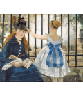 Edouard Manet - La Ferrovia (1873). Stampa su tela
