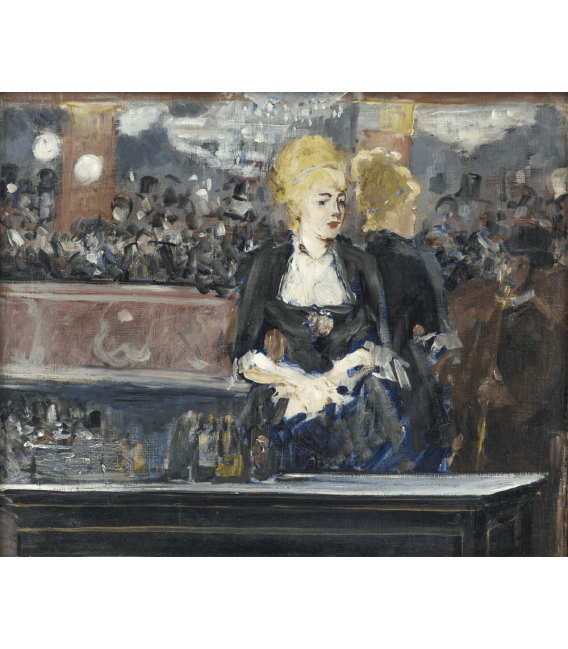 Printing on canvas: Edouard Manet - A bar en el Folies Bergere 2