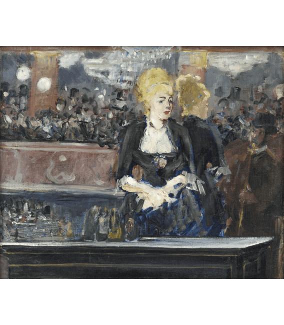 Stampa su tela: Edouard Manet - Un bar en el Folies Bergere 2