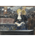 Edouard Manet - A bar en el Folies Bergere 2. Printing on canvas