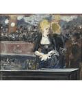 Edouard Manet - Un bar nelle Folies Bergere 2. Stampa su tela