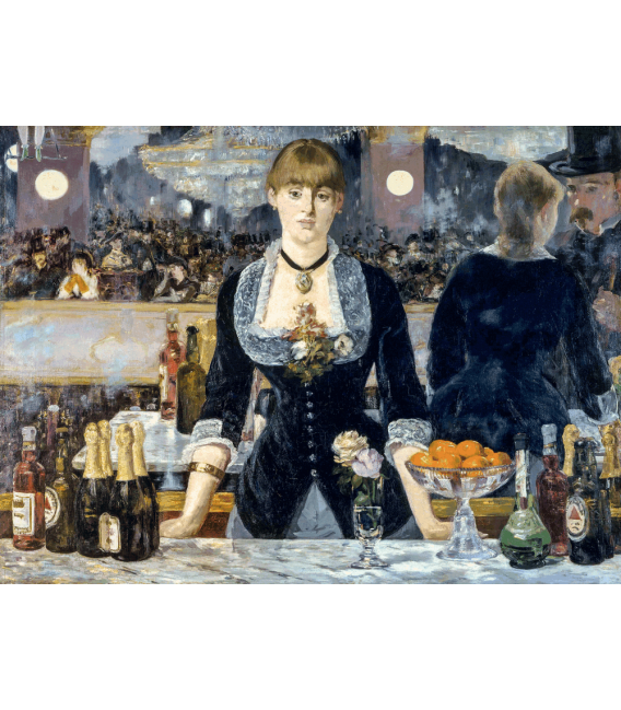 Printing on canvas: Edouard Manet - A bar en el Folies Bergere