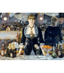 Edouard Manet - Un bar nelle Folies Bergere. Stampa su tela