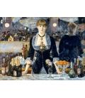 Stampa su tela: Edouard Manet - Un bar en el Folies Bergere