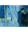 Edvard Munch - The Kiss. Printing on canvas